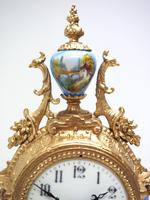 Wow! French Blue Sevres Mantel Clock 8 Day Striking Mantle Clock (6 of 12)