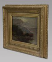 W Thomas - Pair Of Cattle Scenes - 19thc Oil On Canvas's (2 of 5)