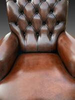 Pair of Leather Library Chairs (3 of 4)