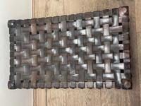 Art Deco Original English Handmade Oak & Leather Strapped Brass Studded Footstool (18 of 22)