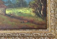 Large Fabulous Early 1900s British Farming Impressionist Landscape Oil Painting (12 of 13)