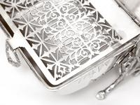 Victorian Fenton Brothers Beautifully Engraved Silver Plated Biscuit Warmer (3 of 4)