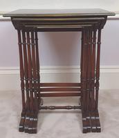 Stunning 19th Century Mahogany Nest of Four Tables (6 of 7)