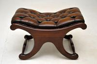 Regency Style Leather Armchair & Stool (12 of 14)