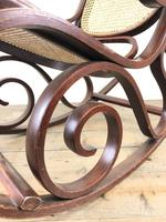 Bentwood Rocking Chair with Cane Seat (9 of 11)