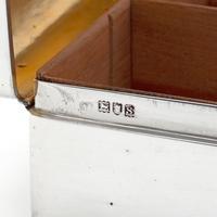 Simple Style Harrods Silver Cedar Lined Cigarette or Cigar Box (5 of 6)