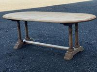 French Bleached Oak Farmhouse Refectory Dining Table (15 of 18)