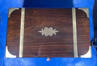 Victorian Full Brassbound Rosewood Writing Slope (10 of 19)