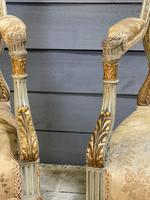 Super Pair of French Upholstered Armchairs (8 of 26)