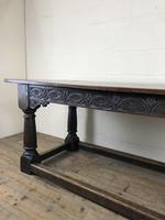 Antique Oak Refectory Table with Plank Top (6 of 12)