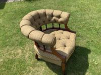 Late Mahogany Victorian Tub / Occasional Chair (4 of 4)