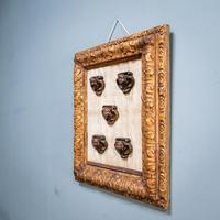 5 Carved Heads in Gilt Frame (3 of 10)