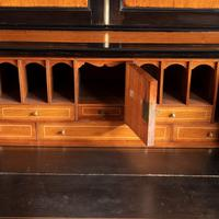 Anglo-Chinese Camphor & Ebony Campaign Secretaire Bookcase (14 of 15)