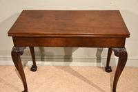George III Mahogany Foldover Tea Table (2 of 8)