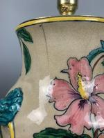 Victorian English Floral Vase Table Lamp, Rewired & Pat Tested (8 of 15)