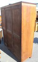 1940s Walnut 3 Door Wardrobe with Inlay Detailing. (3 of 7)