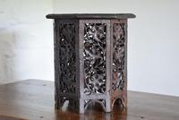 Anglo Indian Carved Table with Octagonal Top (2 of 10)