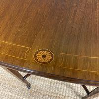 Small Edwardian Inlaid Mahogany Antique Sofa Table (9 of 9)