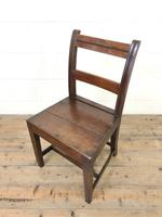 Set of Six Welsh Oak Farmhouse Kitchen Chairs with Bar Backs (5 of 9)