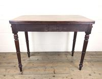 Antique 19th Century Mahogany Fold Over Side Table (8 of 14)
