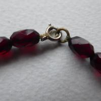 Cherry Red Bakelite Bead Necklace (2 of 7)