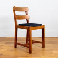 Set of 6 1930s Golden Oak Dining Chairs in the Manner of Heal's (9 of 16)