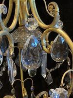 One Light Italian Open Lantern Antique Chandelier (6 of 12)