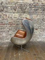 Aviator Leather Swivel Egg Chair (4 of 4)