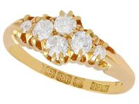 0.54ct Diamond & 18ct Yellow Gold Dress Ring - Antique Victorian