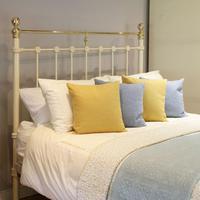Cream Antique Platform Bed (2 of 5)