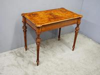 Victorian Inlaid Burr Walnut Games Table (3 of 9)