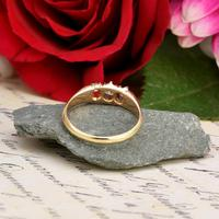 The Antique White Tipped Three Diamond Ring (6 of 6)
