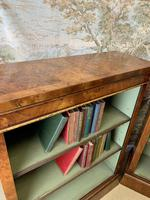Pair of Burr Walnut Open Bookcases (7 of 8)