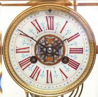 Antique French Table Regulator with Compensating Pendulum 8 Day 4 Glass Mantel Clock (11 of 12)