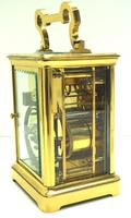 Large Classic Antique French 8-day Gong Striking Repeating Carriage Clock c.1880 (8 of 10)