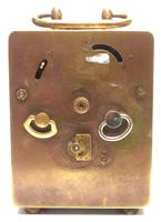 Antique Travelling Miniature Carriage Clock – Wonderful Dial Alarm Feature by Junghans (5 of 6)