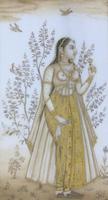 Good Pair of 19th Century Indian Paintings Aurangzeb & Dilras Banu Begum (11 of 11)