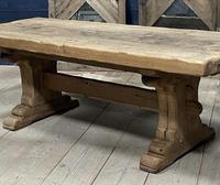 Superb Very Rustic French Oak Bleached Oak Farmhouse Dining Table (28 of 32)