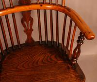 Good Yew Wood High Back Windsor Chair Rockley Maker (8 of 11)