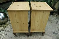 Beautiful & Unusual Old Pine Bedside Cabinets / Cupboards - We Deliver! (8 of 10)