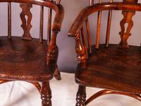 A Near Pair of Childs Yew Wood Windsor chairs (14 of 14)