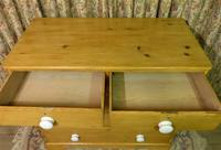 Victorian Stripped Pine Chest with White Porcelain Knobs - Carriage Paid  Most Areas (4 of 7)