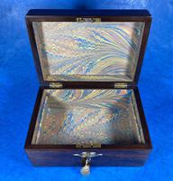 Victorian Rosewood Jewellery Box with Mother of Pearl & Abalone Escutcheons (14 of 14)