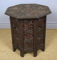 Anglo Indian Hand Carved Hardwood Table (2 of 6)