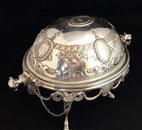 Victorian Silver Plate Breakfast / Caviar Dish (2 of 6)