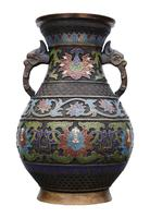 Late 19th Century quality Chinese bronze cloisonne vase (3 of 7)
