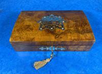Victorian Brass Bound Burr Walnut  Card Box (5 of 11)