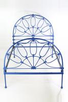 Antique Victorian All Iron Double Bed (3 of 13)
