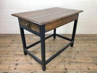 Antique Oak Side Table with Drawer (10 of 11)