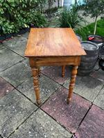 Antique 18th Century French Solid Fruitwood Rustic Side Table With Drawer (6 of 6)